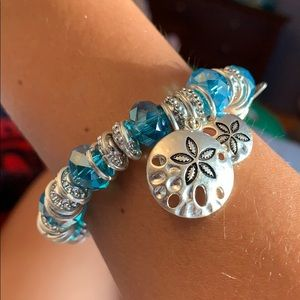 Blue and silver seashell bracelet 🐚💙